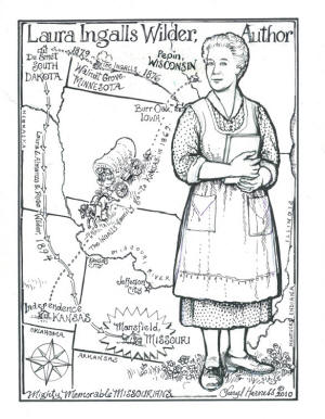 Little house on the prairie coloring sheets pictures to for Sarah plain and tall coloring pages